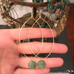 Anthropologie hoops with stones